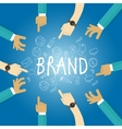 brand building build company business name vector image