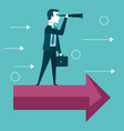 businessman vision concept looking through vector image