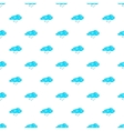 Cloud and snowflake pattern cartoon style vector image