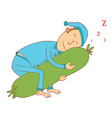 lovely bolster vector image