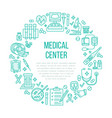 medical poster template line icon vector image