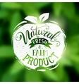 Natural fresh and farm food emblem vector image