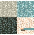 Set of four floral retro seamless patterns vector image