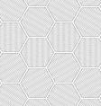 Shades of gray wavy striped hexagons vector image