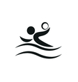 Swimmer playing water polo symbol for download vector image