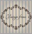 vintage frame flower ornament color vector image
