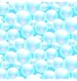 soap bubbles blue seamless pattern vector image