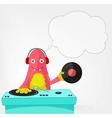Funny Monster DJ vector image vector image