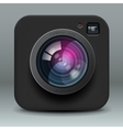 Black color photo camera icon vector image