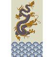 2012 China dragon of water year vector image