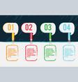 color pencil template background design vector image