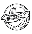 Cool black and white monkey with cap vector image