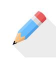 pencil flat design icon vector image vector image