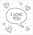 Bubble with declaration of love vector image vector image