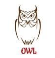 Wise old owl sketch vector image vector image