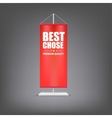 Best chose Vertical red flag at the pillar vector image vector image