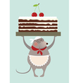 mouse cook and cake vector image