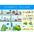 Elements of the Modern Village vector image