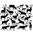 Reindeer or caribou silhouettes vector image