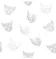 seamless pattern with stamps of cats vector image vector image