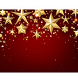 Festive starry background vector image