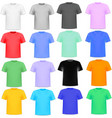 set of colorful knitted shirts vector image vector image