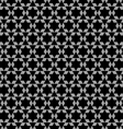 Black and white arabic seamless pattern with stars vector image