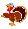 happy turkey cartoon for your design vector image