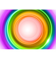background rainbow light center big vector image