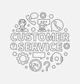 customer service round - vector image