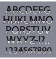 Halloween Bone Font vector image