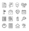 Line tax icons vector image