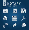 Notary icons vector image