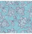 Seamless pattern beautiful decorative stylized vector image