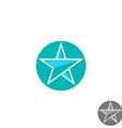 Star logo round graphic shape mockup design vector image