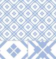Vintage Blue Western seamless pattern vector image