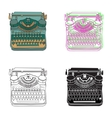 Vintage of retro typewriter vector image