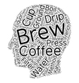 Coffee Five Ways text background wordcloud concept vector image