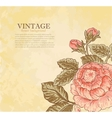 vintage flower on grunge background vector image