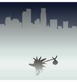 Hedgehog in the metropolis vector image vector image