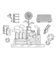 Environment concept with industrial plant vector image