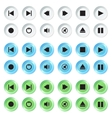 White blue and green navigation buttons set vector image