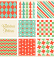 christmas seamless pattern in vintage style vector image