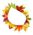 Fall composition vector image