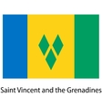 Flag of the country saint vincent and grenadines vector image