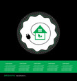 green home power efficiency icon vector image