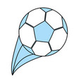 isolated soccer ball design vector image