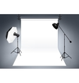Photo studio background vector image