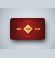 premium gift card template with a golden square vector image