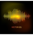 Single colorful eq equalizer sound audio vector image